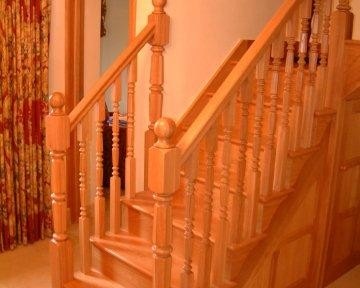 Solid Oak Staircase with Panelling